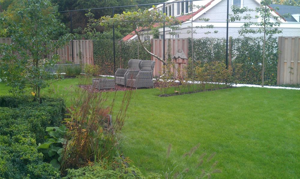 Door ons aangelegde en onderhouden tuin.