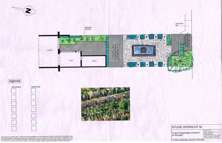 Project langwerpige achtertuin te Nijmegen
